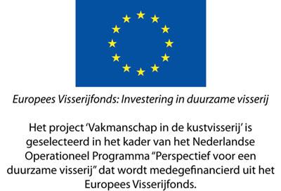 EU Europees Visserijfonds Vakmanschap kustvisserij logo web Animo voor vak traditionele kustvisser flink toegenomen